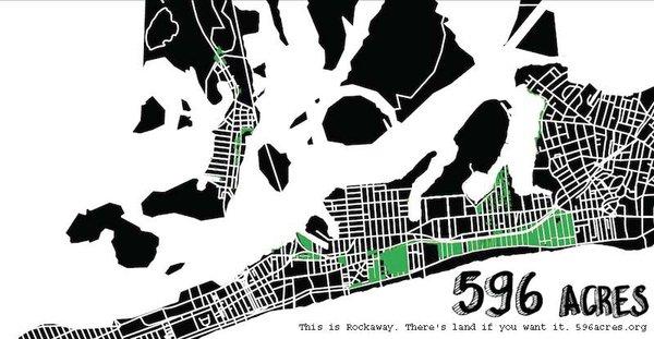 596 Acres map of Rockaway, Queens