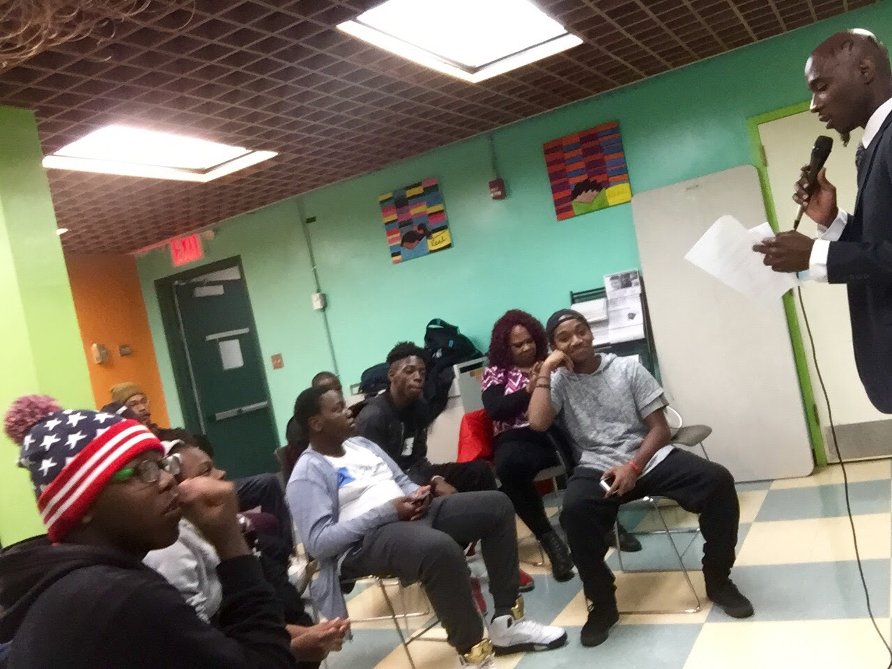 Young people of Weeksville, Brooklyn gathered to make plans for the vacant public land at 45 Somers Street