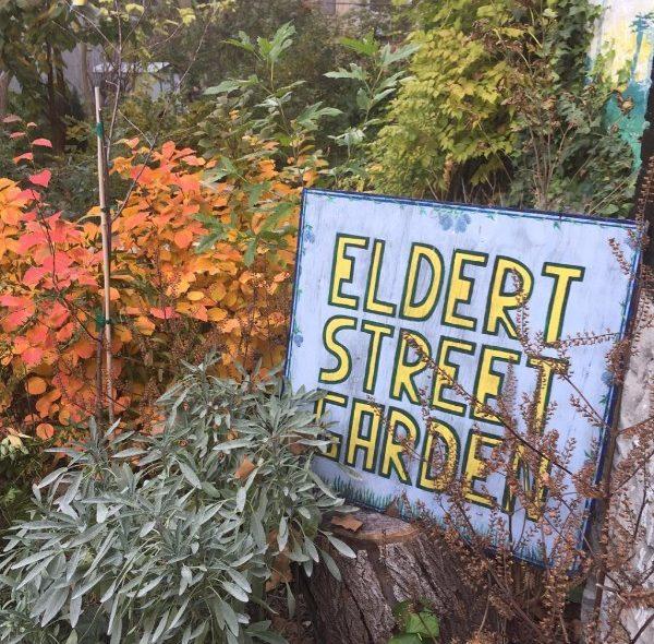 Eldert Street Garden sign