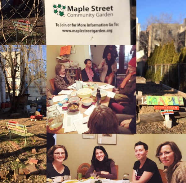 Maple Street Community Garden collage