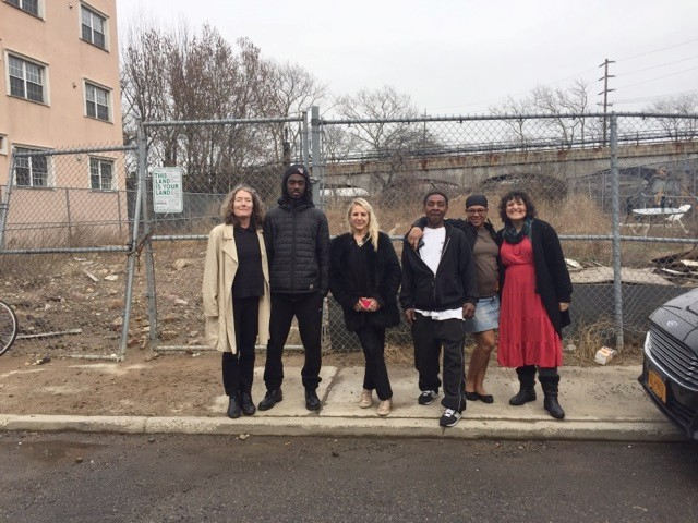 Future stewards of Beach 84th Street Community Garden in Rockaway Beach are ready to transform this vacant city-owned lot!