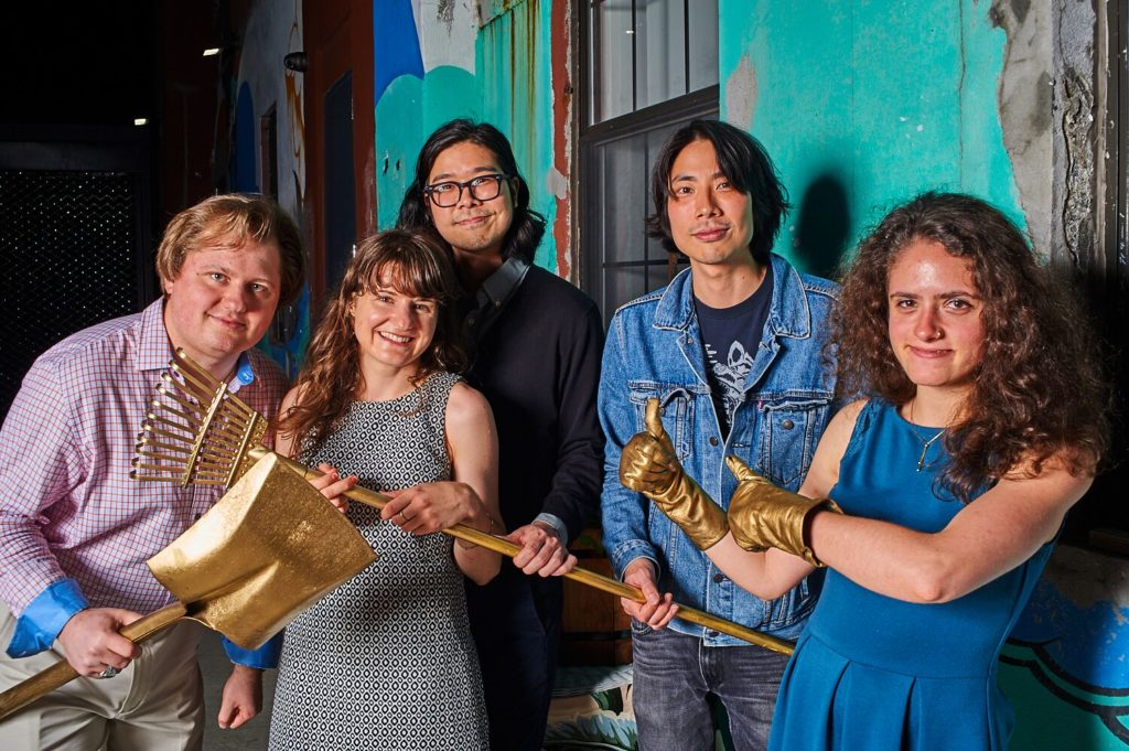 Charles Chawalko, Mary Prall, Keita Nishimaru, Shingo Nishimaru, and Chloe LePaule