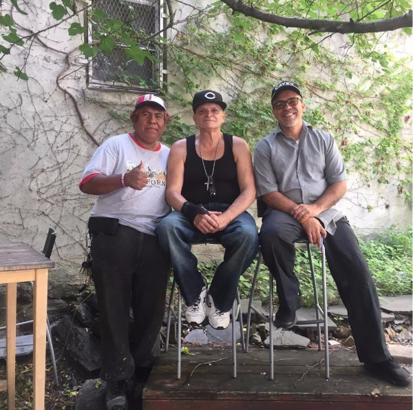 Andres, Richard, and Jose have been taking care of and organizing around this community space at the corner of East 102nd Street and Lexington Avenue for over 20 years