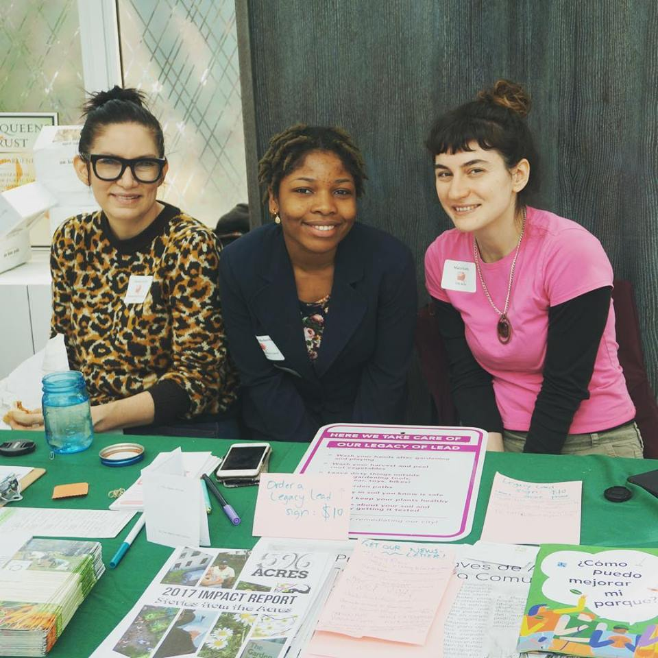 Brooklyn Queens Land Trust and 596 Acres share a table at Making Brooklyn Bloom event