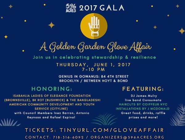 Join us at our June 1, 2017, fundraising gala, A Golden Garden Glove Affair!