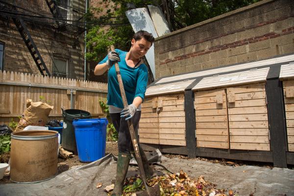 Gardener at Maple Street Community Garden